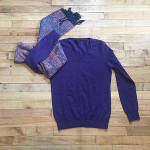 Talbots Purple cashmere sweater